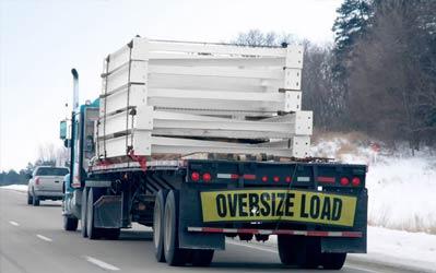 oversize load trucking Canada USA